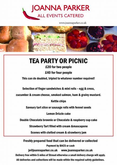 Tea Party or Picnic Menu